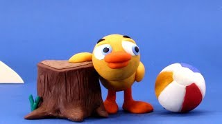Baby Duck Stop motion cartoon for children - BabyClay thumbnail