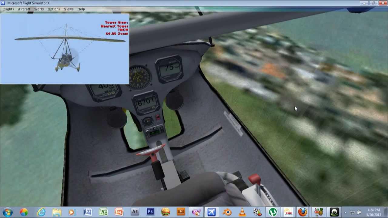 flight simulator x part 5 aircreation take ultralight take off
