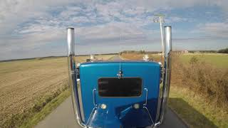 """Kenworth Glider w/60 Series Detroit and 7"""" Straight Pipes"""