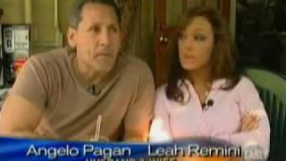Leah Remini and Angelo Pagan on the CBS Early Show