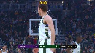 1st Quarter, One Box Video: Milwaukee Bucks vs. Los Angeles Lakers