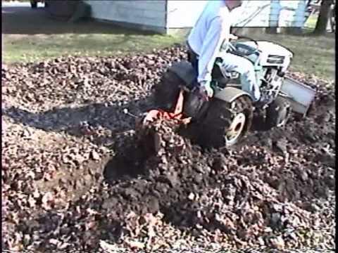 Sears Suburban Moldboard Plowing With The Sears SS 12 Suburban Tractor