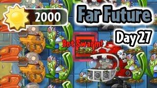 Plants vs Zombies 2 - Far Future Day 27: Last Stand | Caulipower Epic Quest Step 2