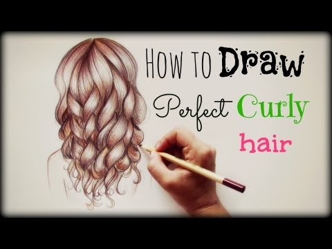 drawing-tutorial-❤-how-to-draw-and-color-perfect-curly-hair