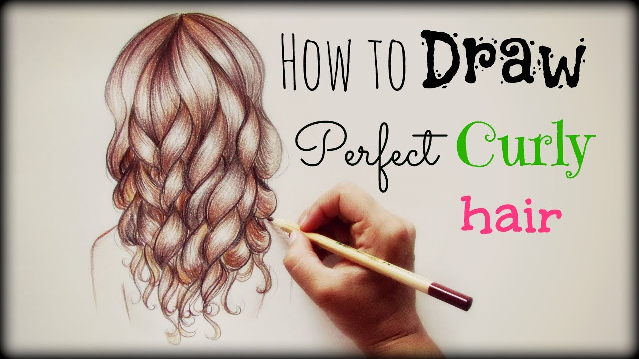 Drawing Tutorial How To Draw And Color Perfect Curly Hair