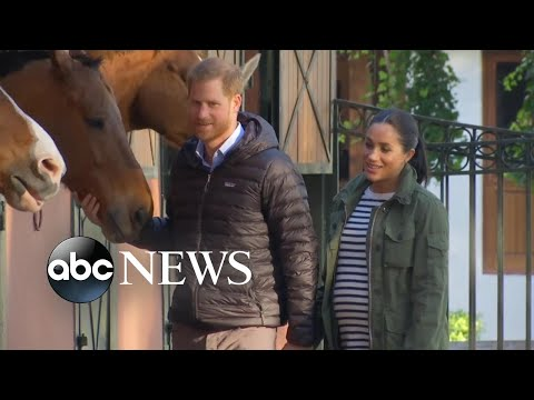 Harry, Meghan pet a horse, exchange cookbook with famous chef on Morocco tour