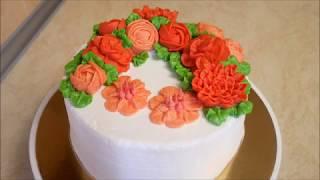 УКРАШЕНИЕ ТОРТОВ украшение торта в МАЛАЗИЙСЬКОМ стиле РЕЦЕПТ масляного крема Cake decorating