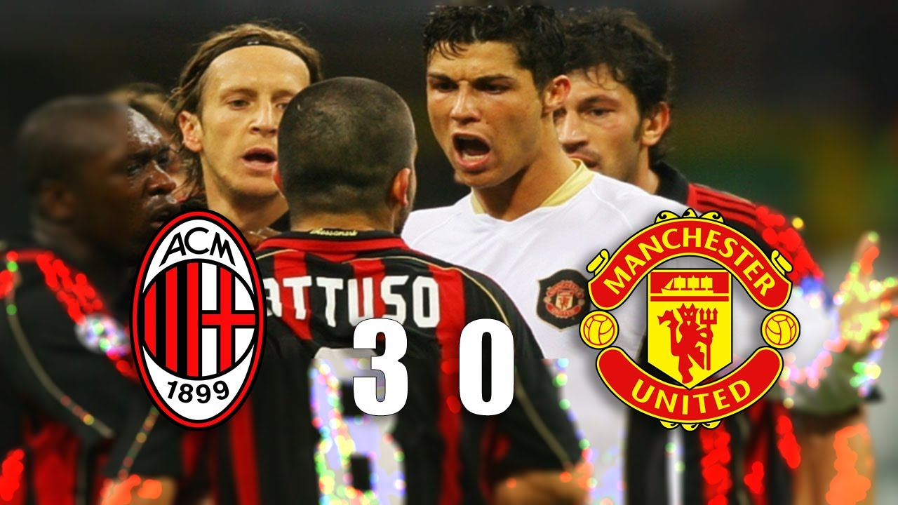 Football Fight and Furious Moments - AC Milan vs Manchester United 2007 -  YouTube