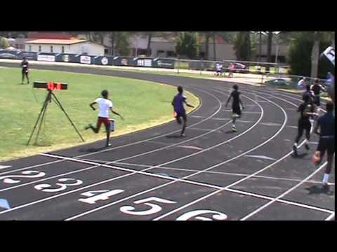 14yo Boys Jacob Kenison 100m Finals (11.78) - 2015 AAU SC District Qualifier