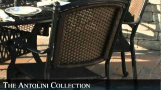 The Antolini Collection 6-person All Weather Wicker/cast Aluminum Patio Furniture Dining Set
