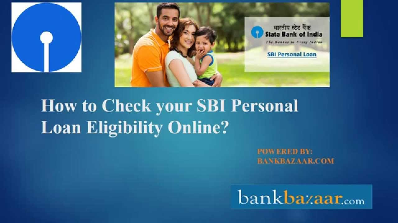 SBI Personal loan Eligibility - YouTube