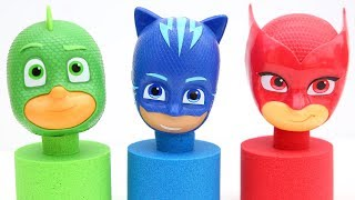 PJ Masks SuperHeroes Surprise Candy Toys Kinetic Sand Learn And Play Kids Video
