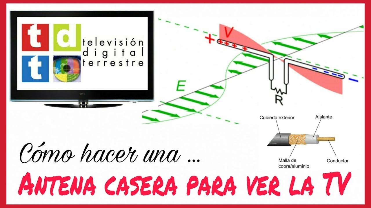 C mo hacer una antena casera para ver la tv hd f cil y - Antenas de television ...