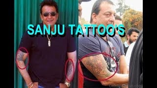SANJU || TATTOO HISTORY || MOST TATTOO'S IN BOLLYWOOD ||