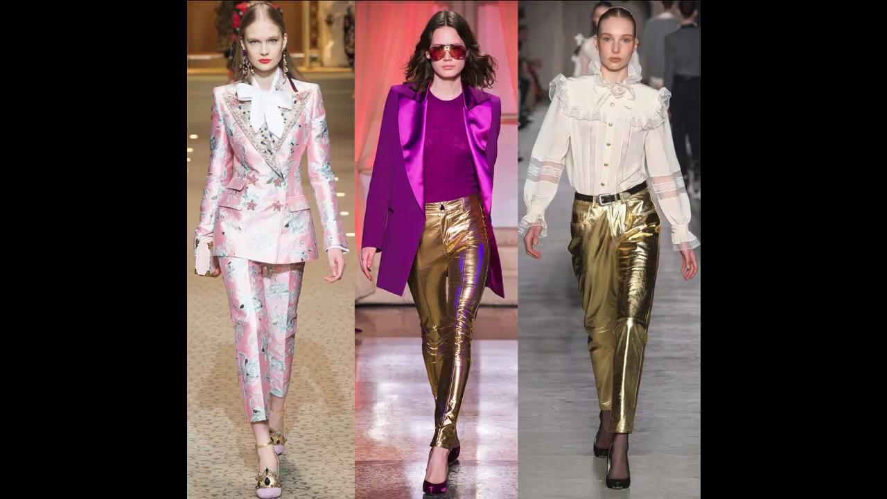 Блестящие Брюки 2019|мода брюки девушка