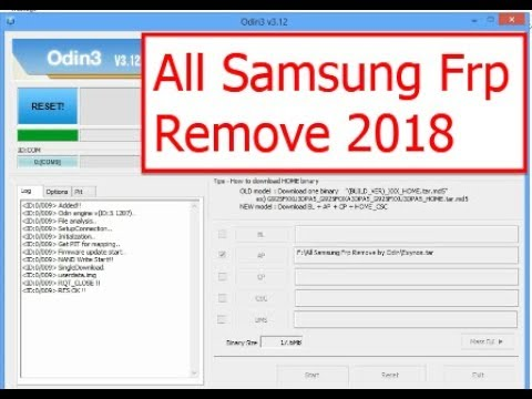 All samsung Frp Remove With Odin 2018