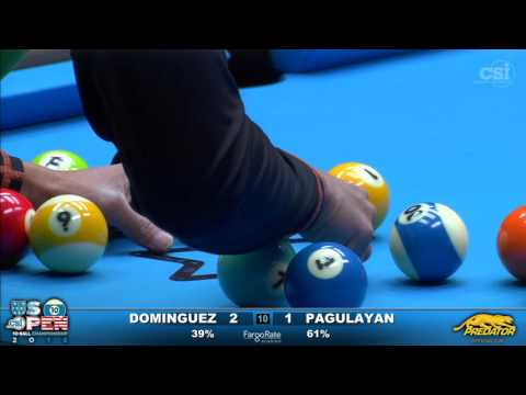 2016 US Open 10-Ball: Oscar Dominguez vs Alex Pagulayan