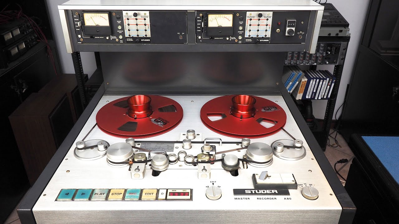 Studer A80 Vinyl Cutting Lathe Version Double Playback Heads With