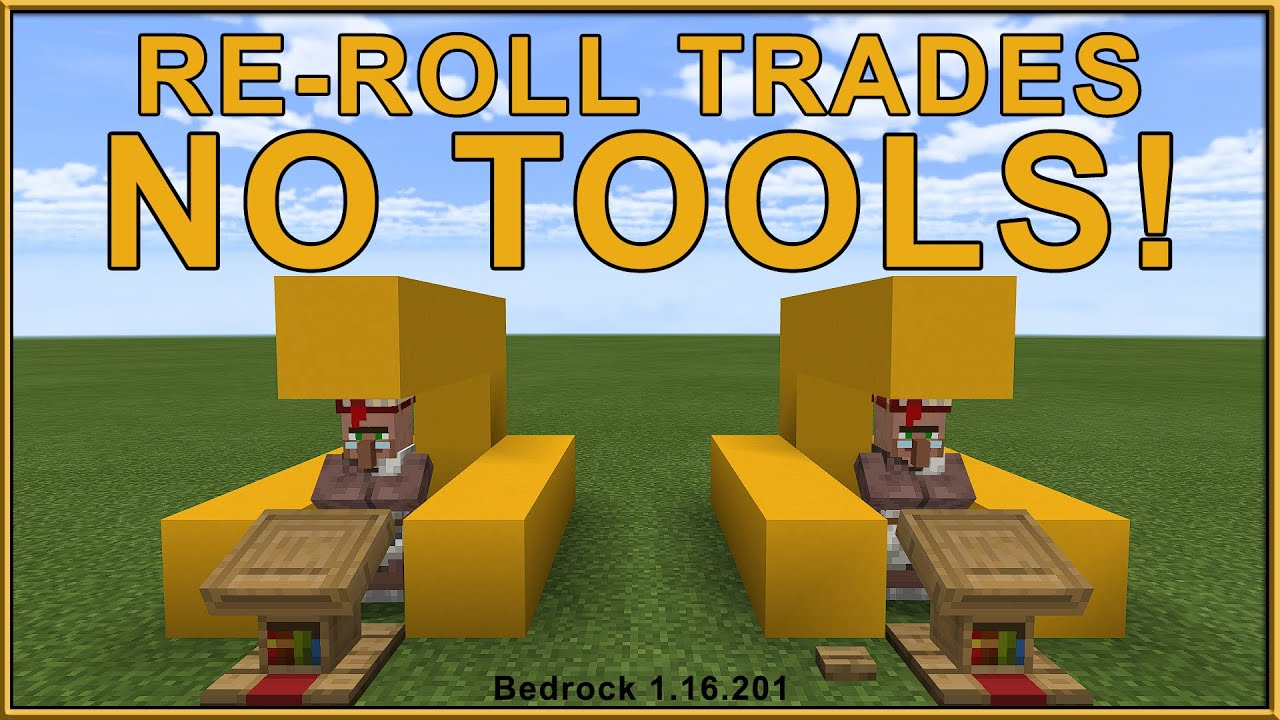 How to reset villager trades in the Bedrock Edition with NO AXE!!