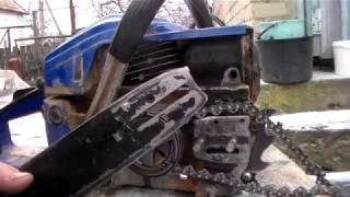 Улучшить  смазку шины бензопилы.Простой способ улучшить  смазку цепи.