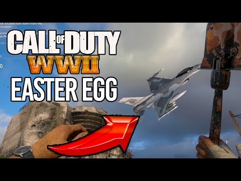 WW2 How to find the secret F-16 MILITARY JET Easter egg on Headquarters!
