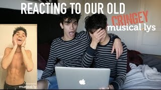 REACTING TO OUR OLD CRINGEY MUSICALLYS