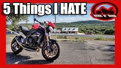 The 5 Things I HATE About The 2012 Triumph Speed Triple 1050