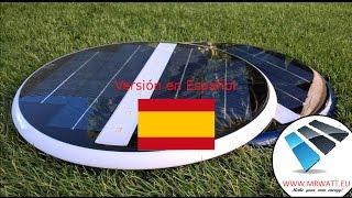 Foco LED solar subacuàtico para iluminación de piscinas estanques sin vaciar la piscina sin obra sin cables montaje en 5 minutos video