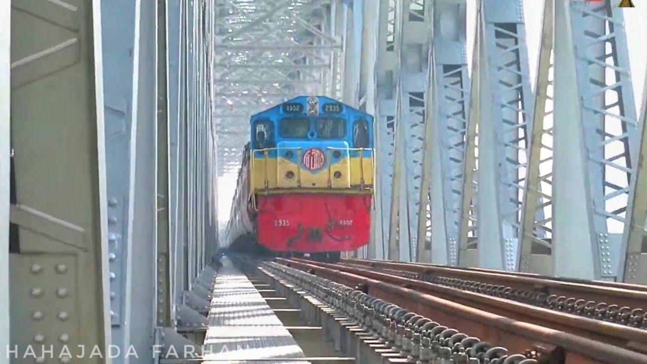 Most beautiful Railway bridge In Bangladesh || Giant Suborno Express || Non stop Train??