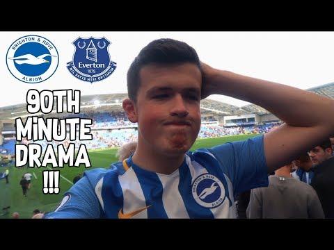 """90TH MINUTE DRAMA"" Brighton Vs Everton   Match Day Vlog   15/10/17"