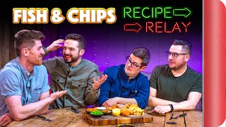 FISH AND CHIPS Recipe Relay Challenge!! | Pass It On S2 E10