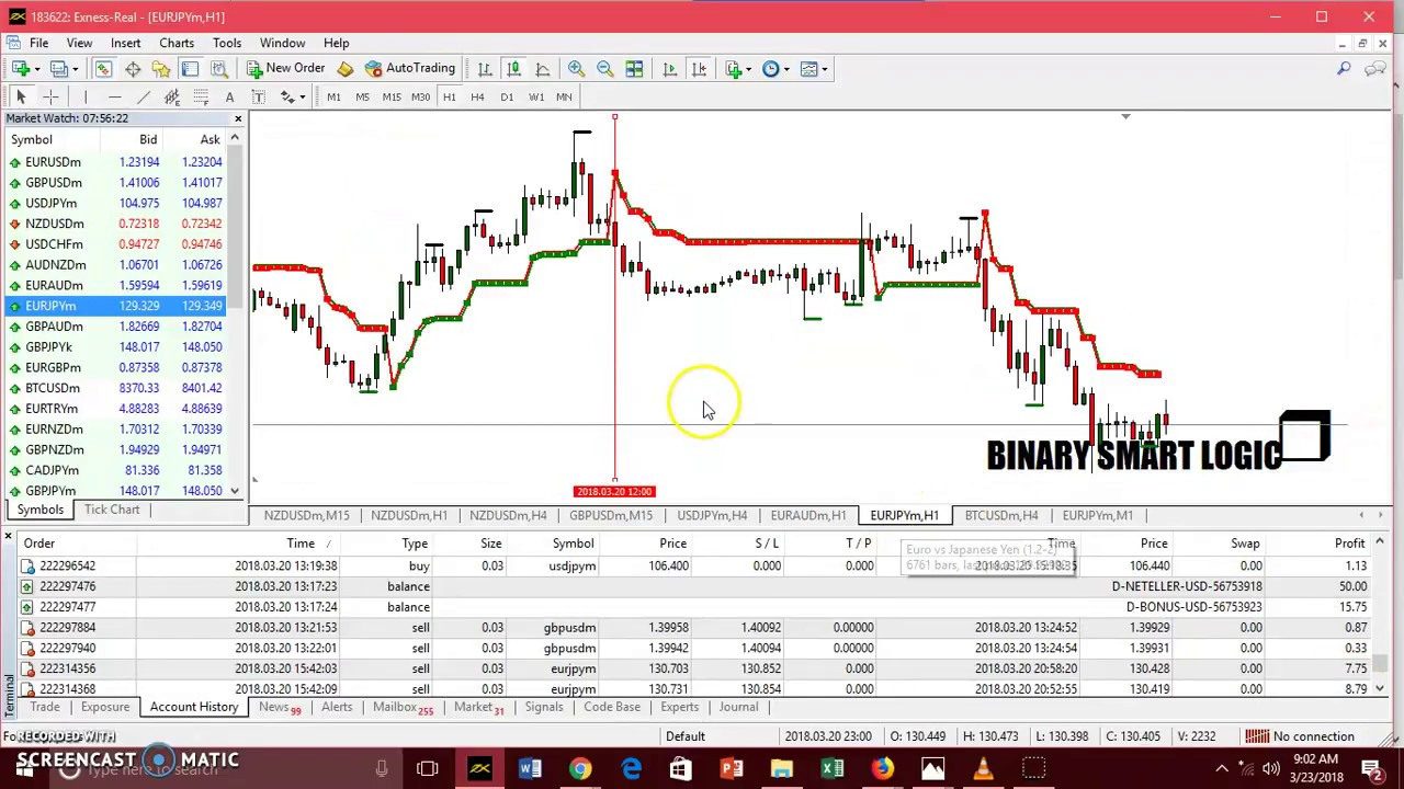 Binary code trading system