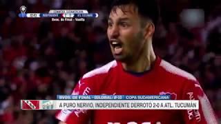 Independiente vs  Atlético Tucumán  (2-0) RESUMEN Y GOLES  Copa Sudamericana -Vuelta
