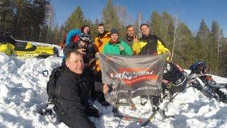 Ванч-Ванч на снегоходе, бундокинг контрруление, траверс обучение 2 группа февраль 2016