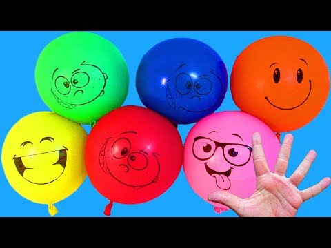Water balloons Collection Learn colors with fun Finger family Song Nursery rhymes Destroy the balls