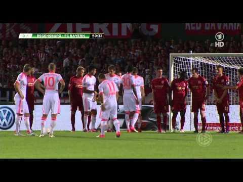 Xherdan Shaqiri Freistoßtor gegen Jahn Regensburg ||HD||
