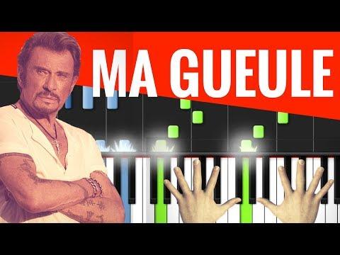 TUTO PIANO : MA GUEULE / JOHNNY HALLYDAY (AVEC METRONOME)