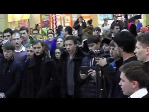 Видео: Флешмоб семинаристов МДА в торговом центре