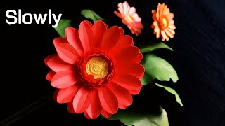 ABC TV | How To Make Gerbera Paper Flower With Shape Punch - Craft Tutorial
