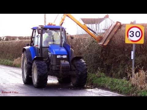 Hedge-Trimming with New Holland 110.