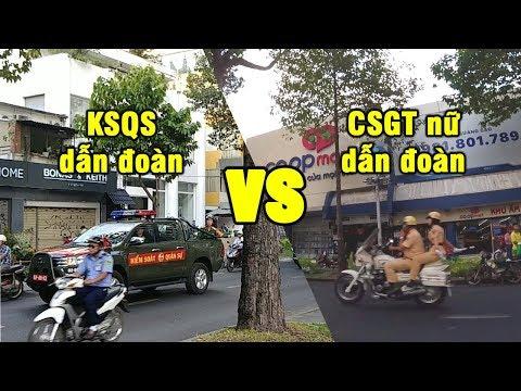 KSQS vs nữ CSGT dẫn đoàn, ai đi được nhanh hơn?