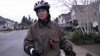UPS Delivery By Bike in Salem Oregon!