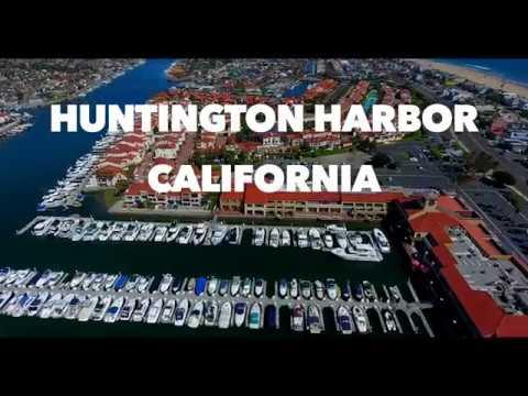 Huntington Harbor, California - Aerial 4K