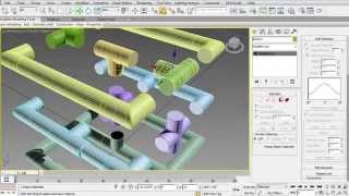 3DS MAX Pipes, Tee, Elbow, and Cross type Joints
