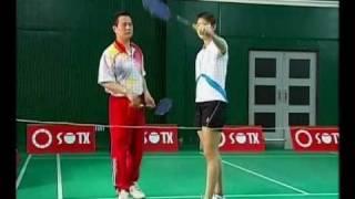 15 Chen Weihua Badminton Training - Backhand Net Spin (English Subtitles)