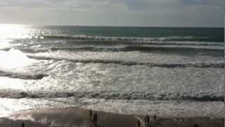 Surf spiaggia di Bidart vicino Biarritz Agosto 2012.MOV