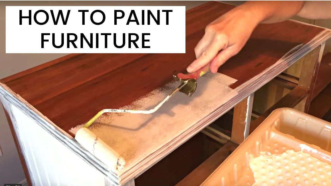 How To Paint Wood Furniture Youtube