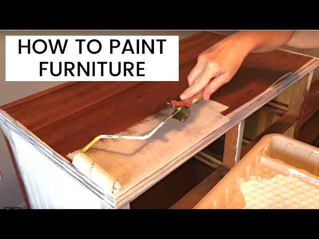 how to paint wood furniture - youtube