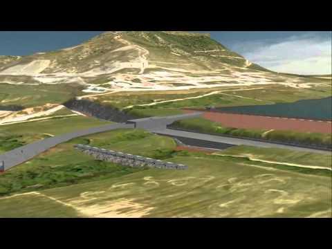 Como se construye la presa de Nagore (Navarra).