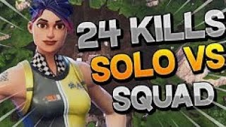 24 Kills Solo Vs Squads | Fortnite Battle Royale (Xbox) - Tendai